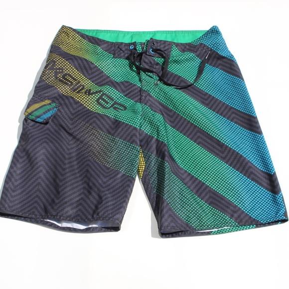 79cd6bff1a Quiksilver Swim | Quicksilver Mens Board Shorts Blue Black | Poshmark